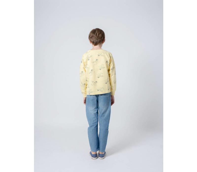 Bobo Choses Tangerine Round Neck Sweatshirt