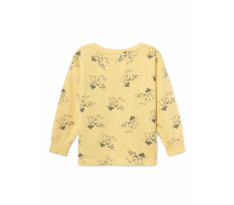 Bobo Choses Tangerine Round Neck Sweatshirt