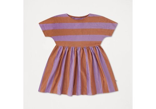 Repose AMS Repose AMS 26A. Ruffle Dress Warm Earthy Lilac Stripe