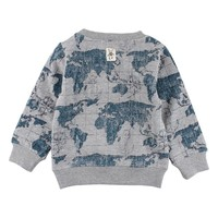 Small Rags Sweat Neutral Gray