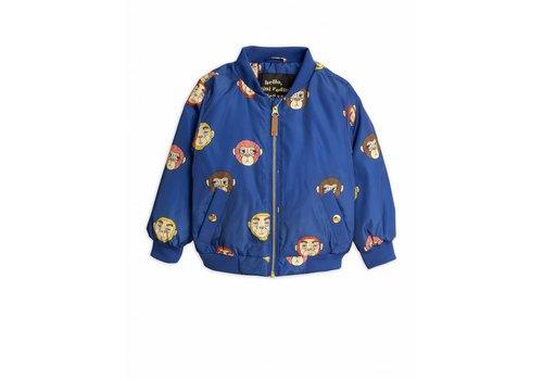 Mini Rodini Mini Rodini Monkey Baseball Jacket Blue