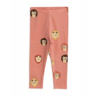 Mini Rodini legging Monkeys aop Leggings Pink