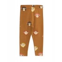 Mini Rodini legging Monkeys aop Leggings Brown