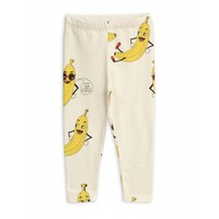 Mini Rodini legging Banana aop Leggings Offwhite