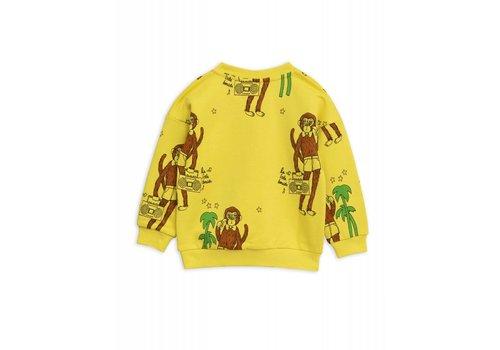 Mini Rodini Mini Rodini Cool Monkey AOP Sweater Yellow