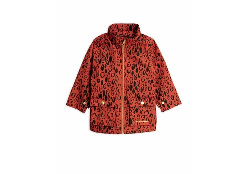 Mini Rodini Mini Rodini Leopard Piping Jacket Red