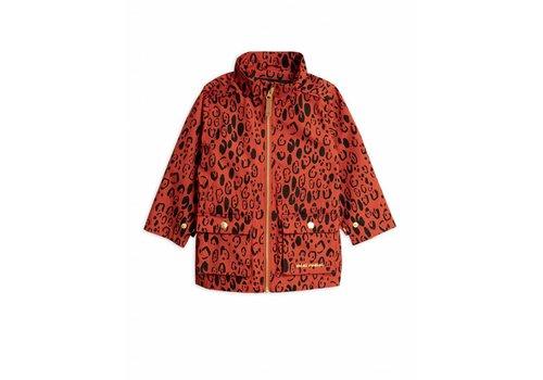 Mini Rodini Mini Rodini Leopard Piping Jacket Red