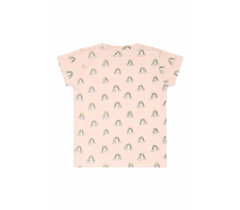 Soft Gallery Pilou T- Shirt Pale Dogwood AOP lucky