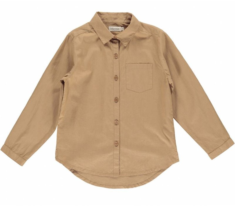 MarMar Copenhagen Tommy Light Cotton Shirt Caramel