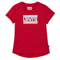 Levis Tee red Logo stripe M