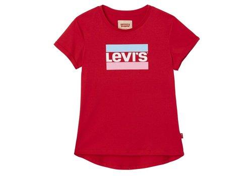 Levis Levis Tee red Logo stripe M