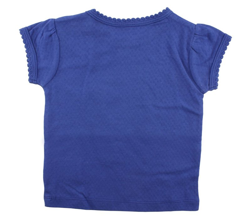 Small Rags short sleeve girls deep marine