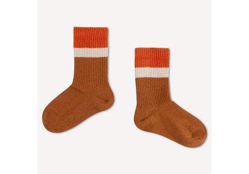 Repose AMS Repose ams 53. sporty socks aged caramel stripe
