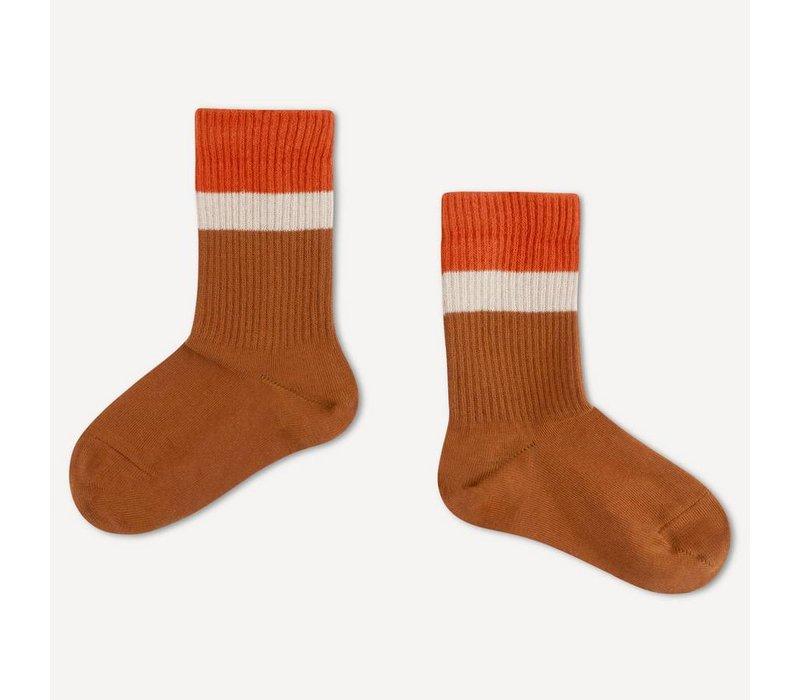 Repose ams 53. sporty socks aged caramel stripe