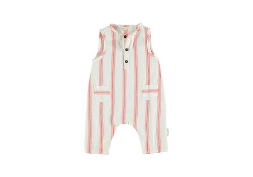 PIUPIUCHICK Piupiuchick Baby Sleeveless jumpsuit red stripes