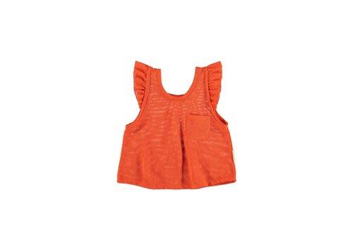 PIUPIUCHICK Piupiuchick Sleeveless T-Shirt Red | Cotton tule