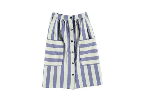 PIUPIUCHICK Piupiuchick Long Skirt Blue Stripes