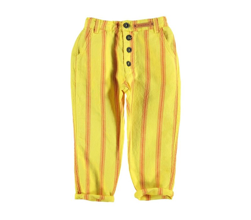 Piupiuchick Unisex trousers Yellow red