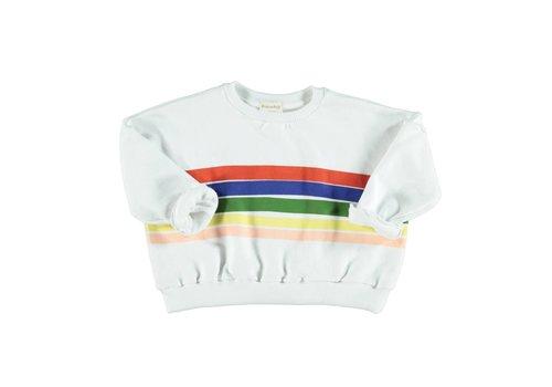PIUPIUCHICK Piupiuchick Sweatshirt White Rainbow