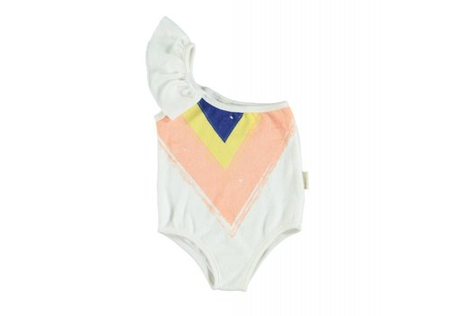 PIUPIUCHICK Piupiuchick Swimsuit with frills on Shoulder