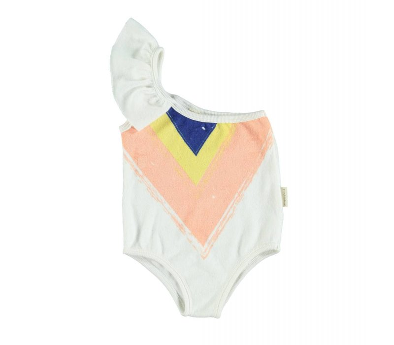 Piupiuchick Swimsuit with frills on Shoulder