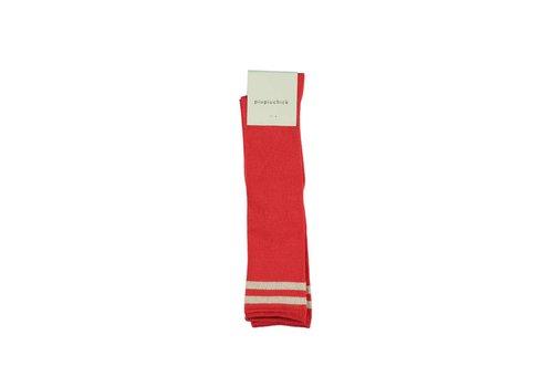 PIUPIUCHICK Piupiuchick Kneesocks Red with golden stripe