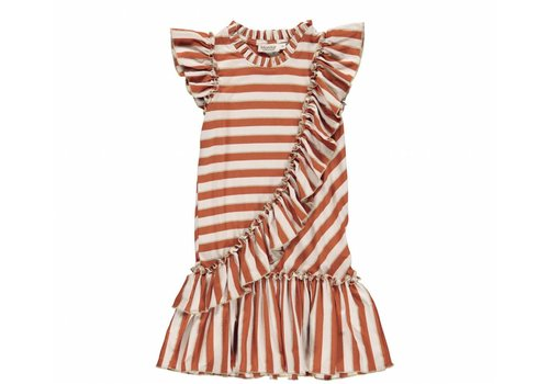 MarMar Copenhagen MarMar Copenhagen Dayla Dress Burnt Red Stripe