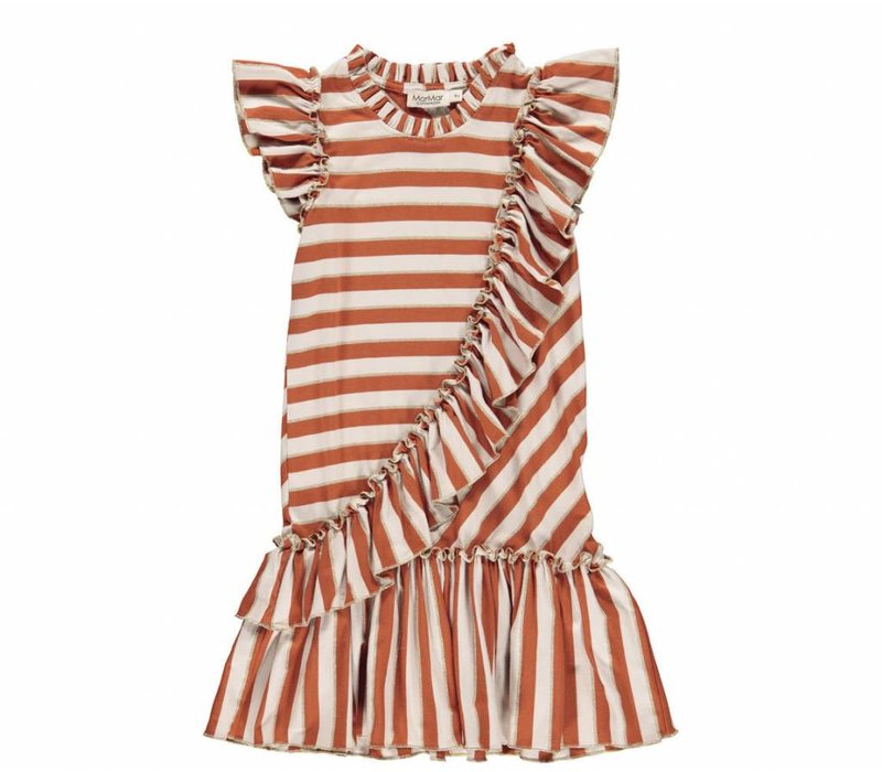 MarMar Copenhagen Dayla Dress Burnt Red Stripe