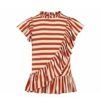 MarMar Copenhagen Tyrose T-Shirt Burnt Red Stripe