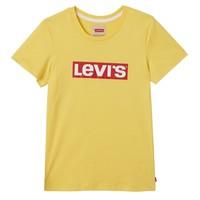 Levis Tee Shirt Logo Habanero Gold block Logo U