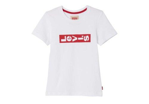 Levis Levis Tee Shirt White red Logo horizon U