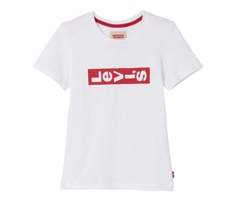 Levis Tee Shirt White red Logo horizon U
