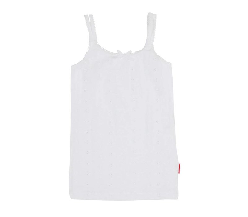 Claesen's Girls singlet white embroidery