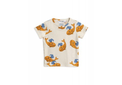 Mini Rodini Mini Rodini - Whale app ss tee orange