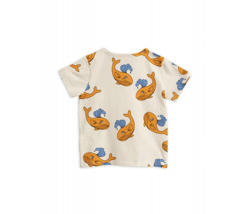 Mini Rodini - Whale app ss tee orange