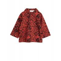 Mini Rodini - Leopard woven shirt red