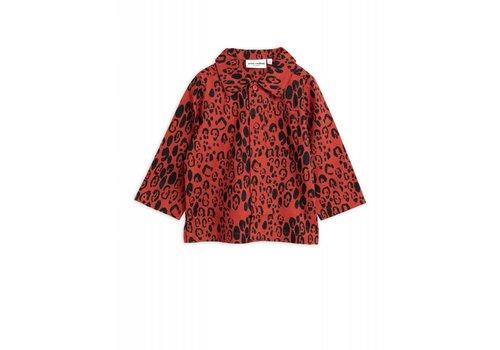 Mini Rodini Mini Rodini - Leopard woven shirt red