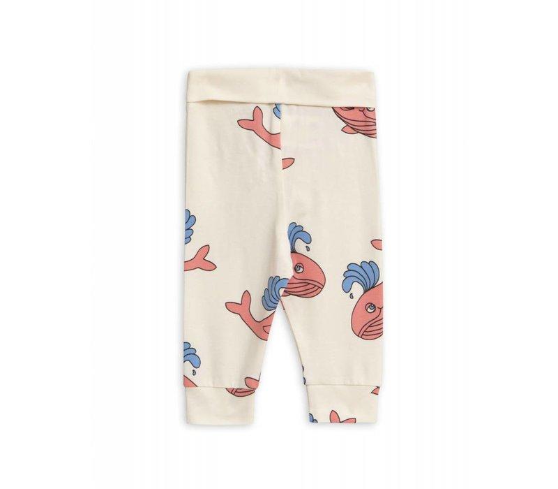 Mini Rodini - Whale app leggings pink
