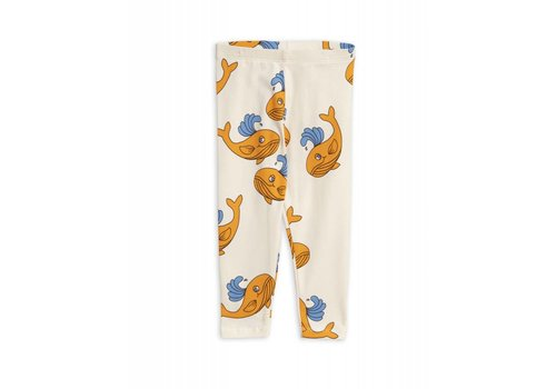 Mini Rodini Mini Rodini - Whale app leggings orange
