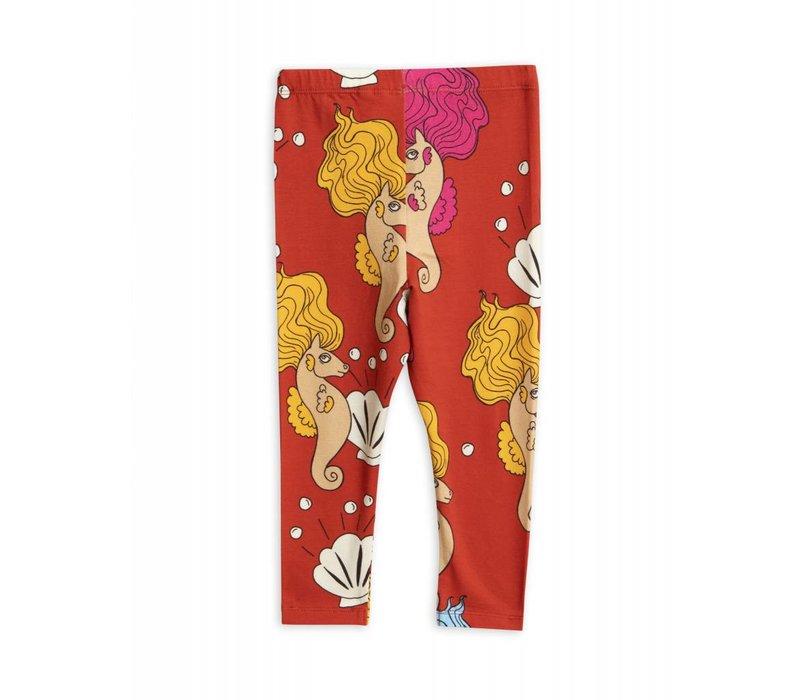 Mini Rodini - Seahorse leggings red