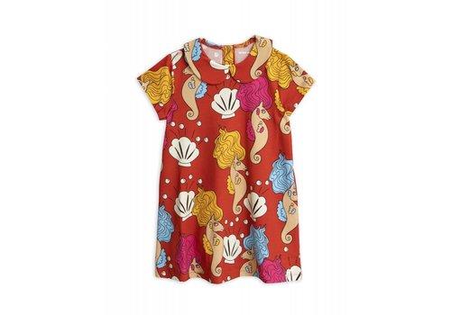 Mini Rodini Mini Rodini - Seahorse dress red _ 1/1,5 Y