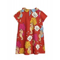 Mini Rodini - Seahorse dress red _ 1/1,5 Y