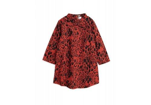 Mini Rodini Mini Rodini - Leopard bow dress red