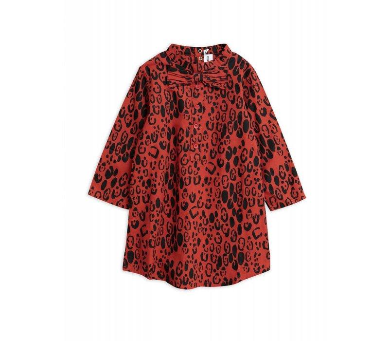 Mini Rodini - Leopard bow dress red
