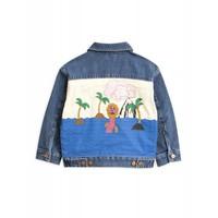 Mini Rodini Seamonster denim Jacket Blue