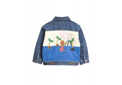 Mini Rodini Mini Rodini Seamonster denim Jacket Blue