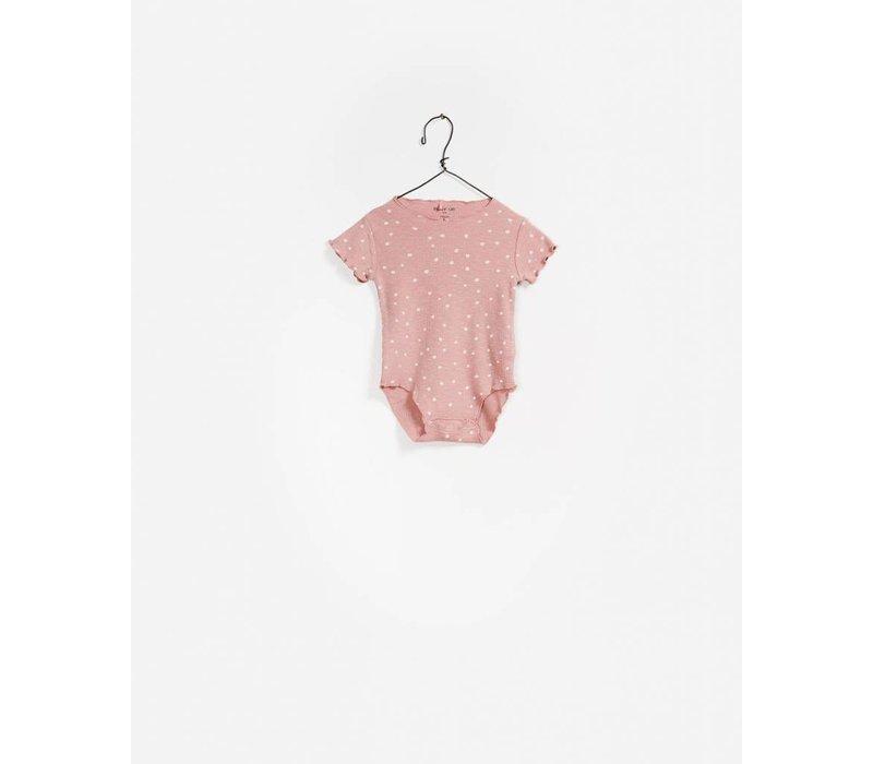 Play Up Rib Body Printed dot  / Pink