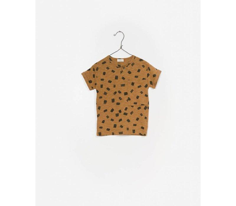 Play Up - Jersey T-shirt Brown / Black