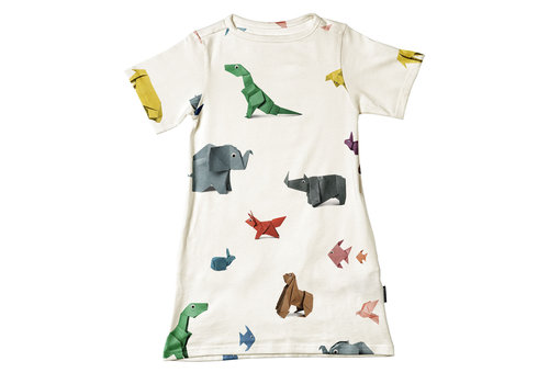 Snurk Snurk -  Paper Zoo - t-shirt dress