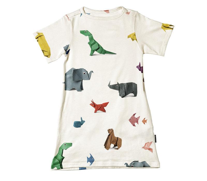 Snurk -  Paper Zoo - t-shirt dress